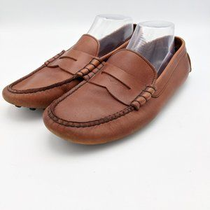 Brooks Brothers Driving Penny Loafers Shoes Brown